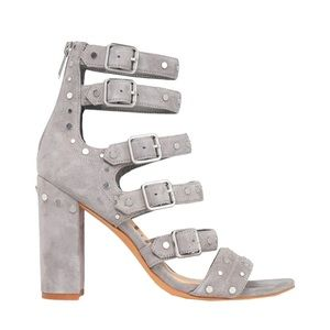 Sam Edelman Grey Suede Heeled Sandals Strappy